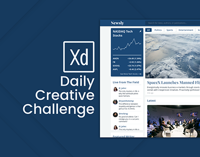 Adobe XD Design Challenge Day 6