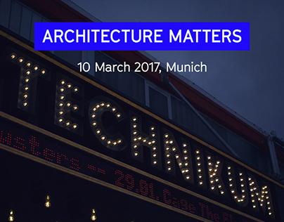 Architecture Matters 2017
