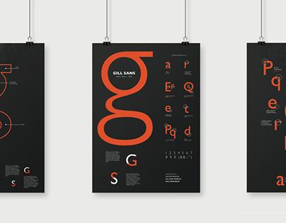 Gill Sans Font Poster
