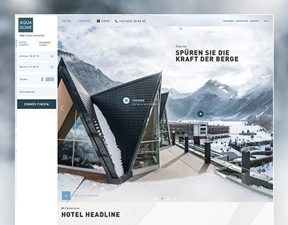 Aqua Dome - Webdesign
