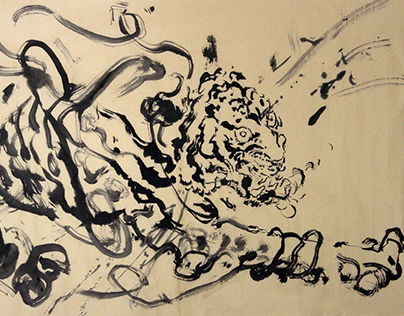 Abstract ink painting series –Tiger
