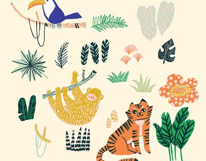 A Series of Summer Pattern Design