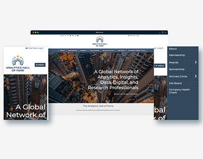Analytics Hall of Fame-Website design and development