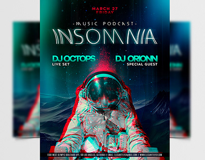 Insomnia Party PSD Flyer Template