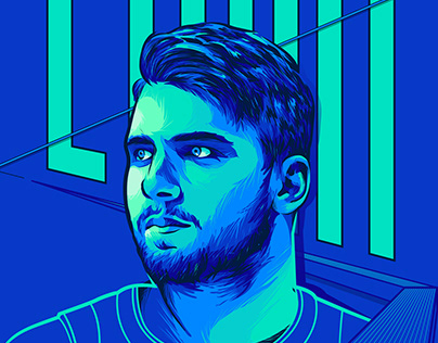 Luka Doncic - Illustration