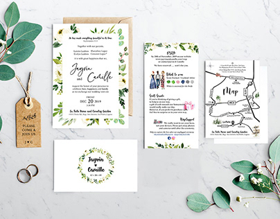 My Own Wedding Invitation with touch of green