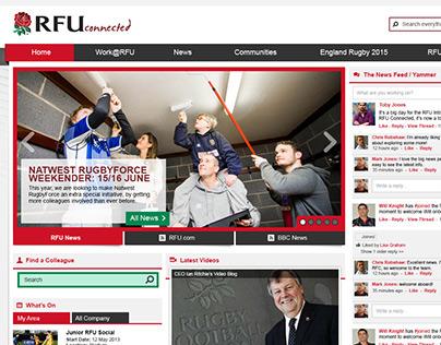 RFU Connected - UI design