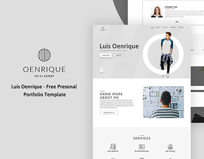 Luis Oenrique - Free personal portfolio template