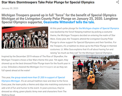 Stormtroopers Take Polar Plunge for Special Olympics