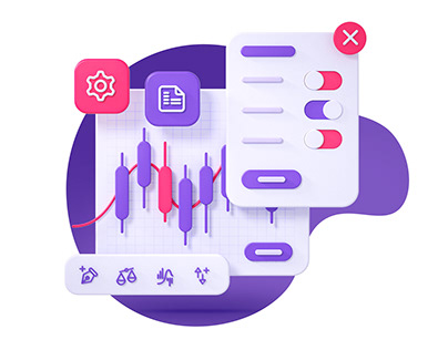 Investing Platform 3D illustration