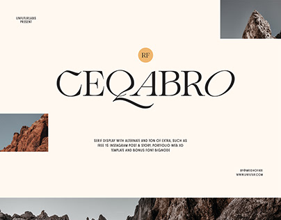 RF Ceqabro Serif Display with Bonus Free Font + Extra