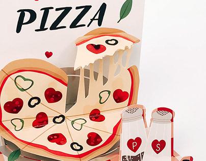 Pizza My Heart Pop-Up Card