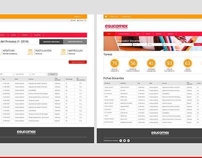 Diseño UI Sistema Gestión Docente ESUCOMEX
