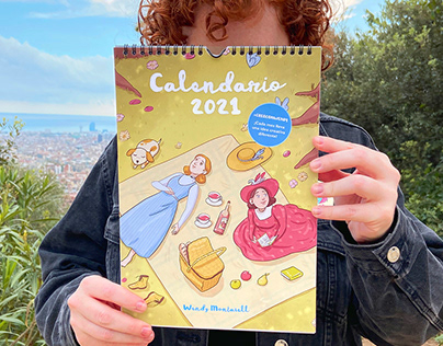 Illustrated calendar 2021