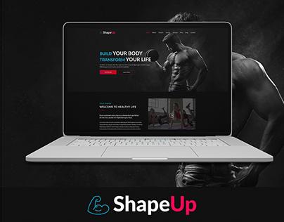 ShapeUp Gym Website -Free PSD