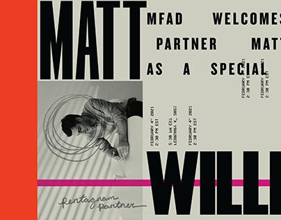 Matt Willey at MFAD