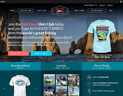 Web Design - Red Tuna Shirt Club