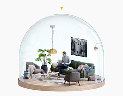 WEB 3D interior tour