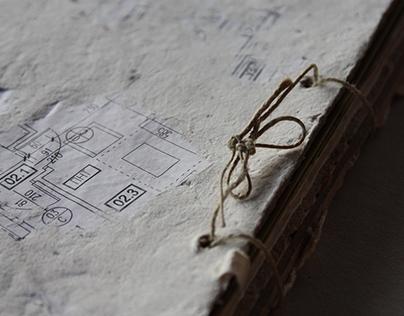 Handmade artist's book - ''Traganje...''