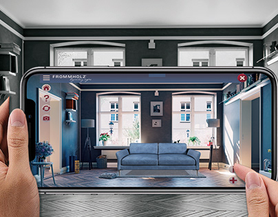 Frommholz legendary sofas Augmented Reality app