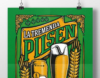 """La tremenda pilsen"" ilustración"
