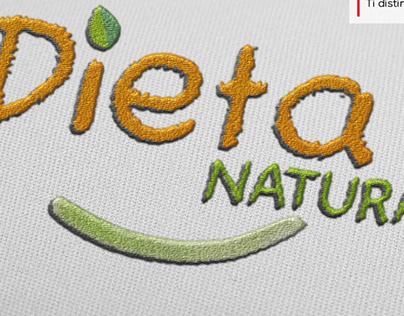 Progetto DietaNatura: logo, tabelle, adesivi, shoppers