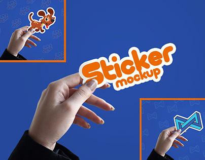 Free Sticker Mockup PSD