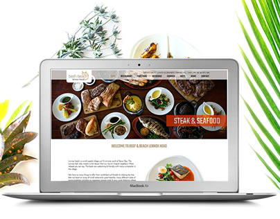 Beef & Beach Restaurant Website