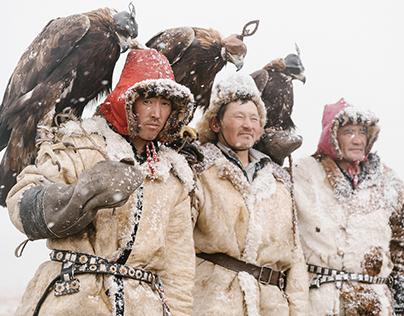 Mongolian eagle hunters