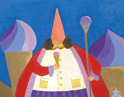 illustration for story -I like pudding and icecream -