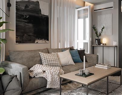 Apartment in Kiev, Ukraine scandinavian minimalism