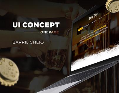 UI Design - Barril Cheio (Onepage)