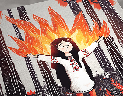 folktale girl illustration