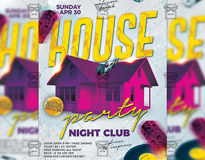 House Party Night Flyer