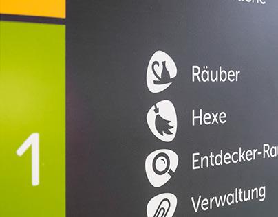 Leitsystem für die Otfried-Preußler-Schule Hannover