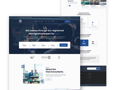 Immigrations services landing page