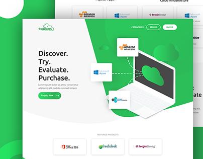 Website uiux design - Redington marketplace