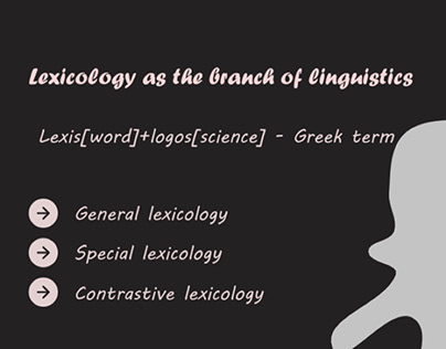 Lexicology project