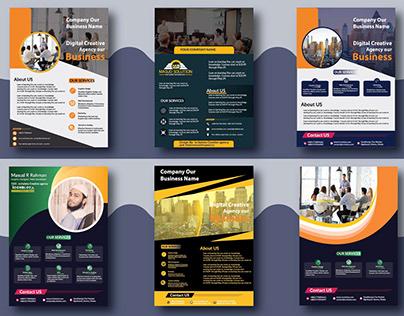 company flyer design, Flyer Free Mockup Download