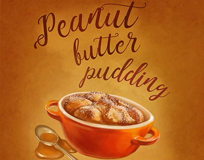 Peanut Butter Pudding with Maple-Peanut Sauce