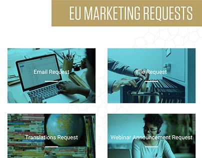 ARIIX EU Marketing Requests Website Landing Page