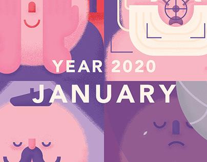 Year 2020: January