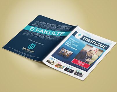 Munzur University Magazine Design / Brochures / Catalog