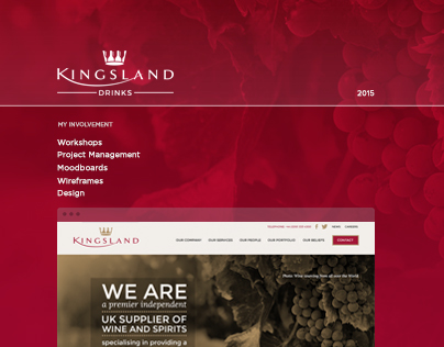 Kingsland Drinks - Website Design
