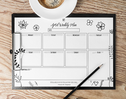 FREE CONTENT - April Weekly Planner
