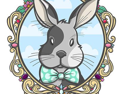 Illustration - Daisy bunny