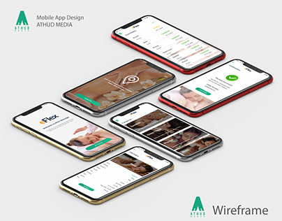 Mobile App Design & Wireframe