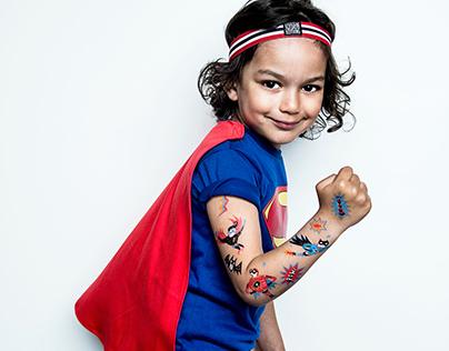Superhero Temporary Tattoos