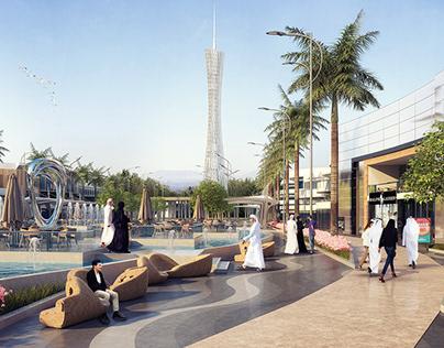 Commercial Promenade in KSA