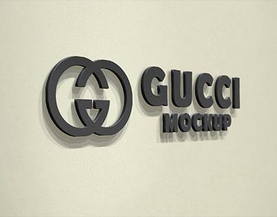 Free Black 3D Wall Logo Mockup